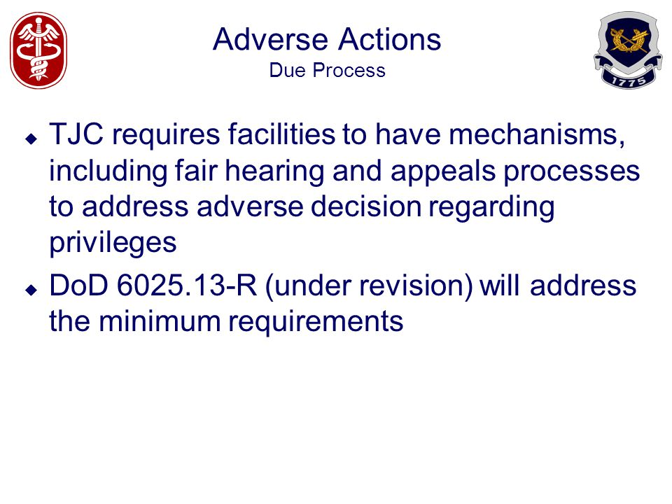 Adverse Actions Due Process