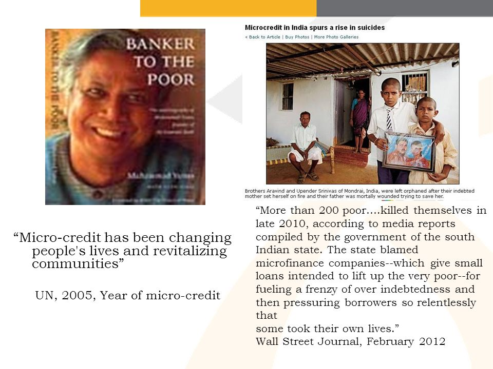 UN, 2005, Year of micro-credit