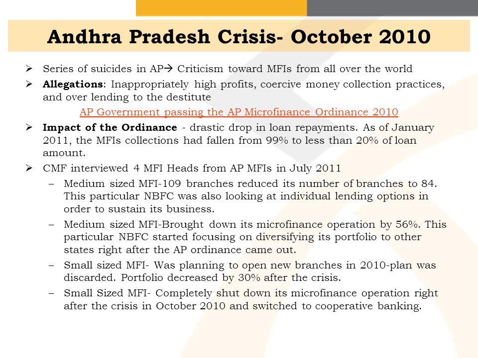 Andhra Pradesh Crisis- October 2010