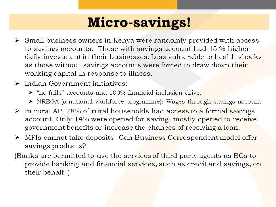 Micro-savings!