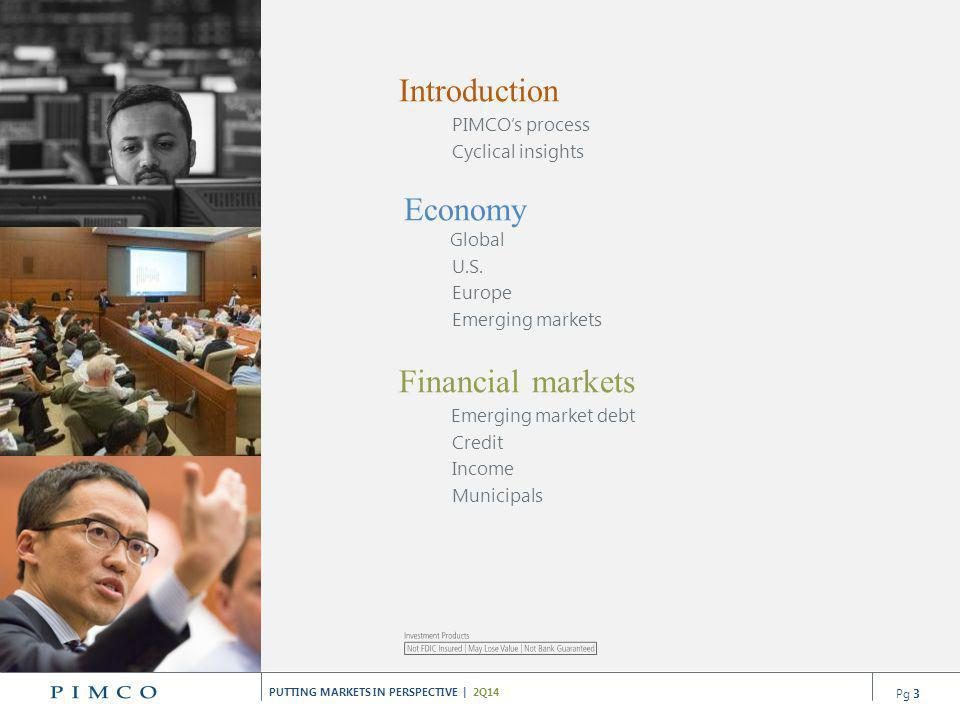 Introduction Financial markets PIMCO's process Cyclical insights