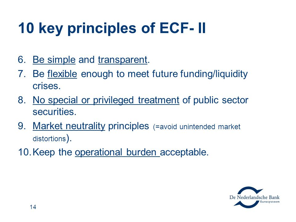 10 key principles of ECF- II