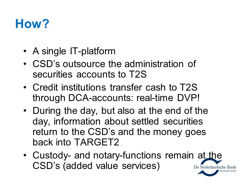 How A single IT-platform