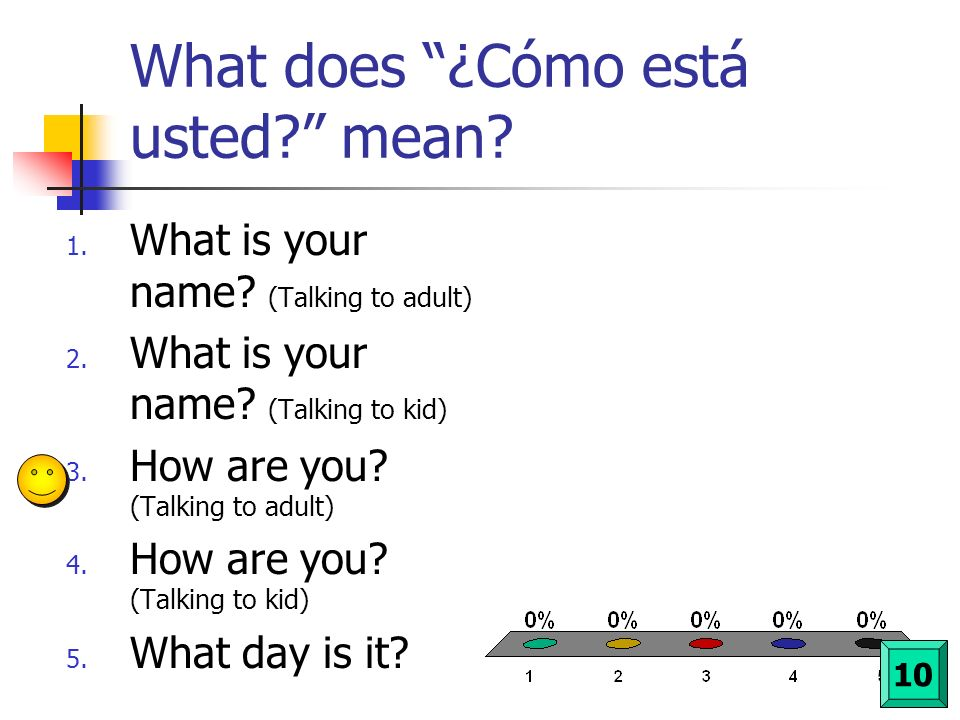 What does ¿Cómo está usted mean