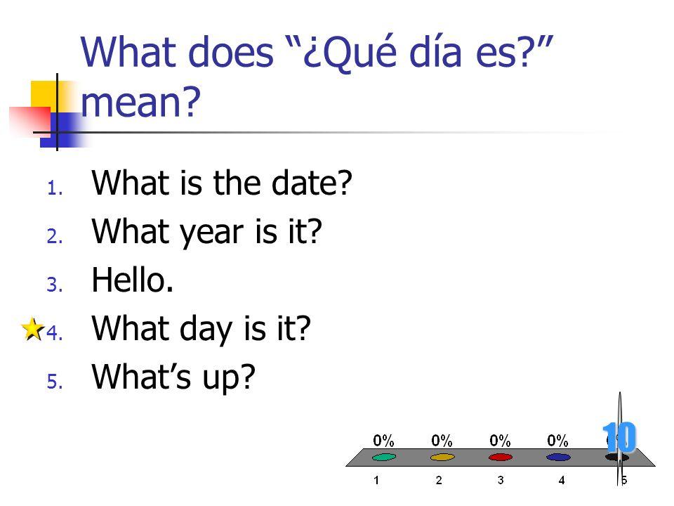 What does ¿Qué día es mean