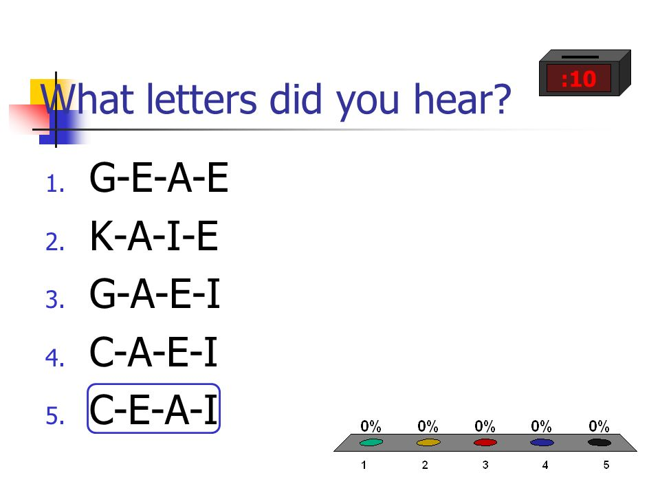 What letters did you hear