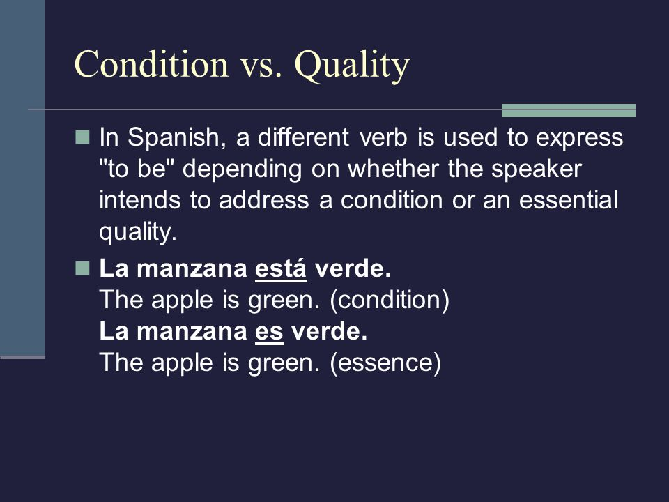 Condition vs. Quality