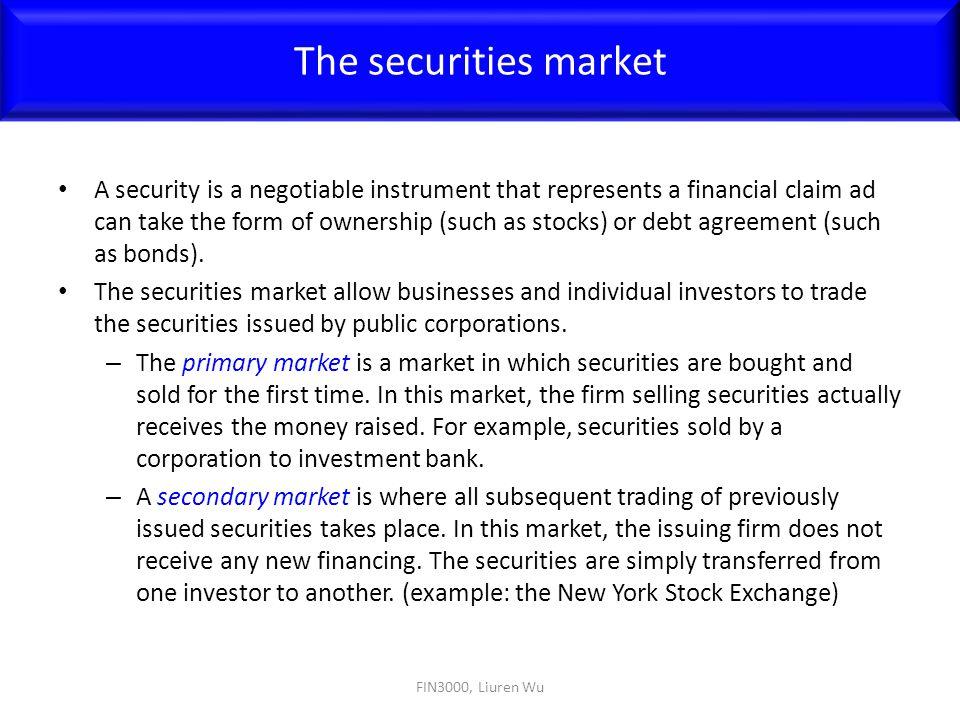 The securities market