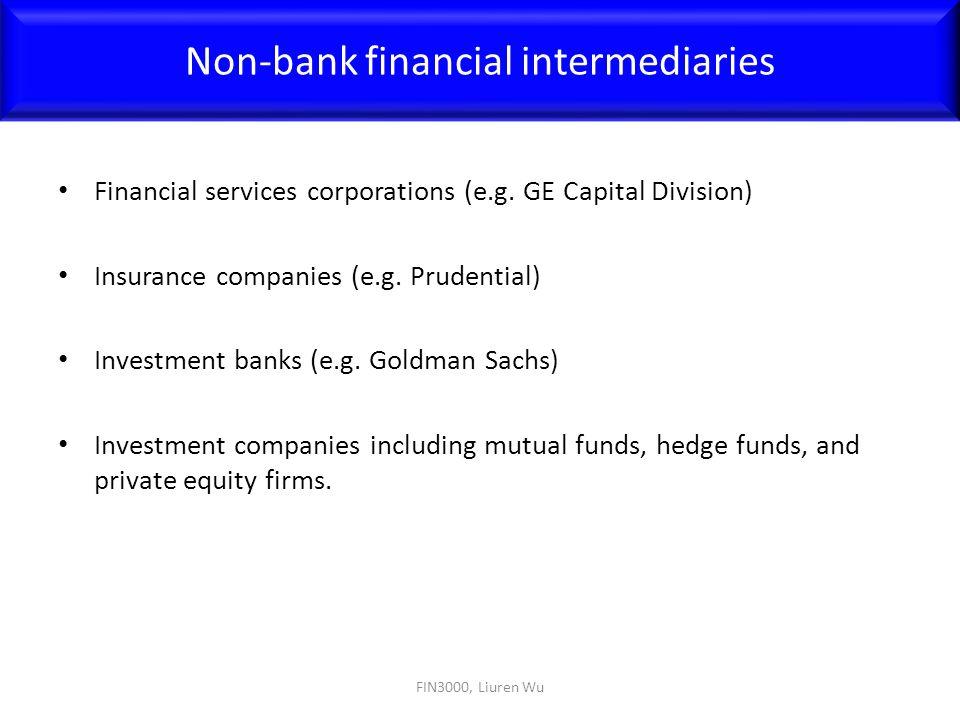Non-bank financial intermediaries