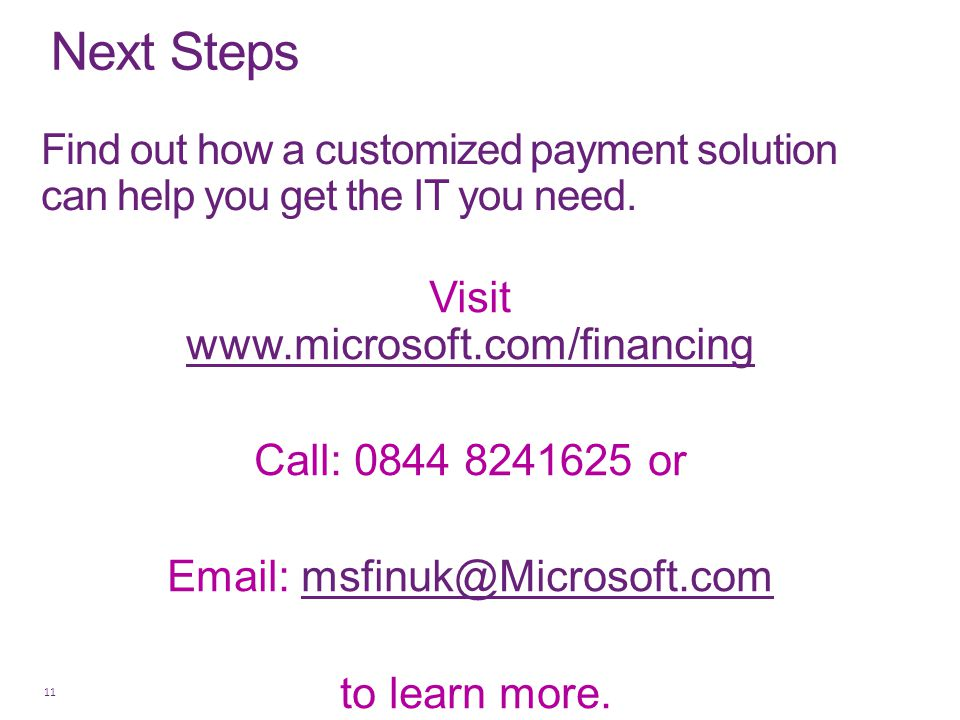 Visit www.microsoft.com/financing