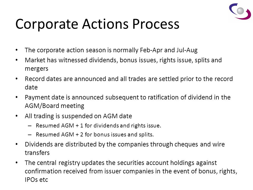 Corporate Actions Process