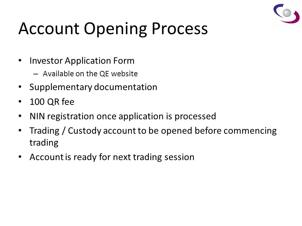 Account Opening Process