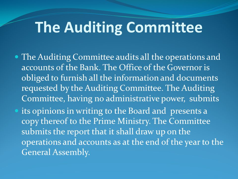The Auditing Committee