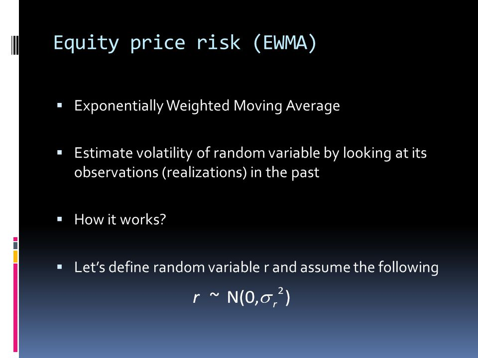 Equity price risk (EWMA)