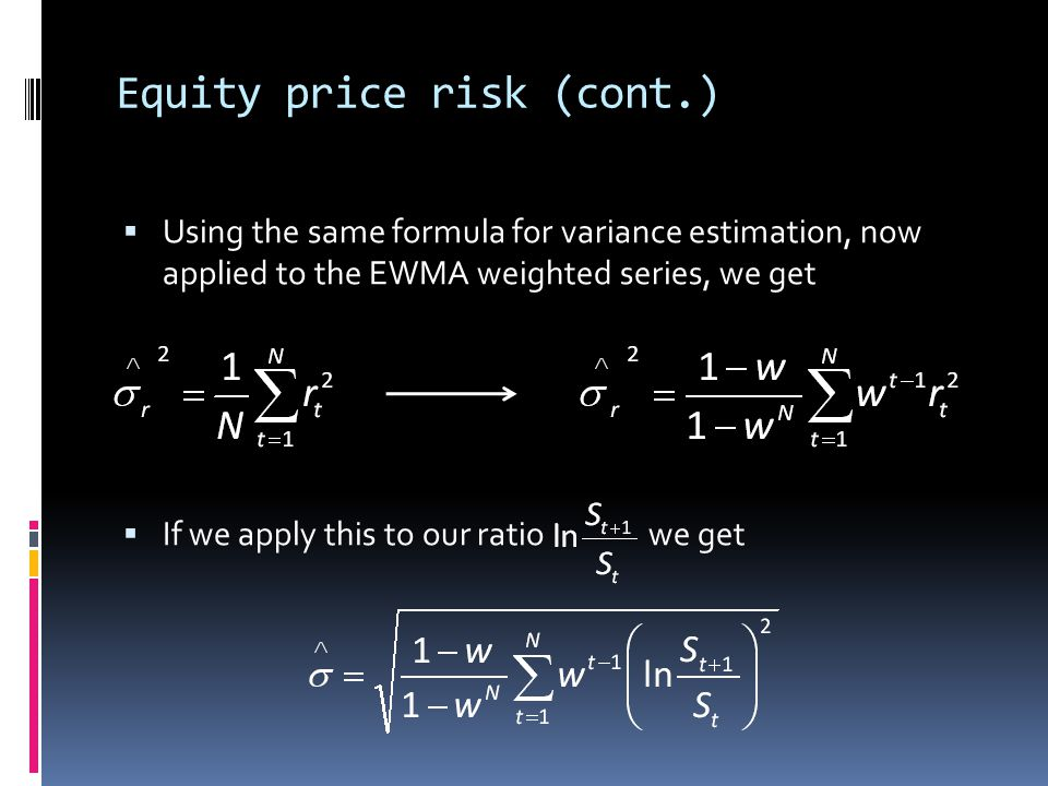 Equity price risk (cont.)