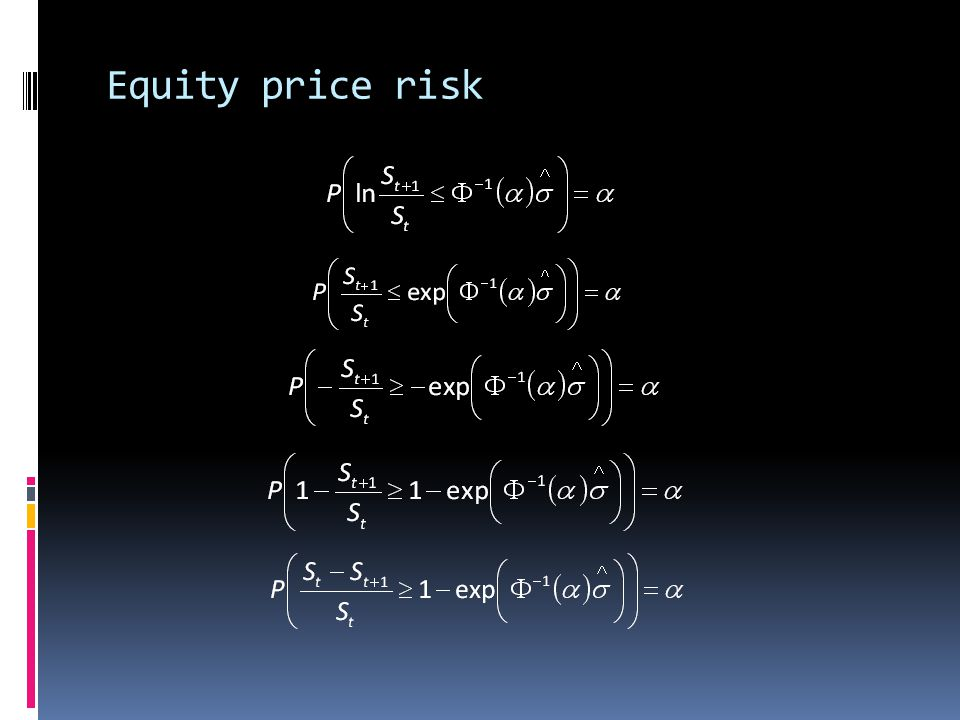 Equity price risk