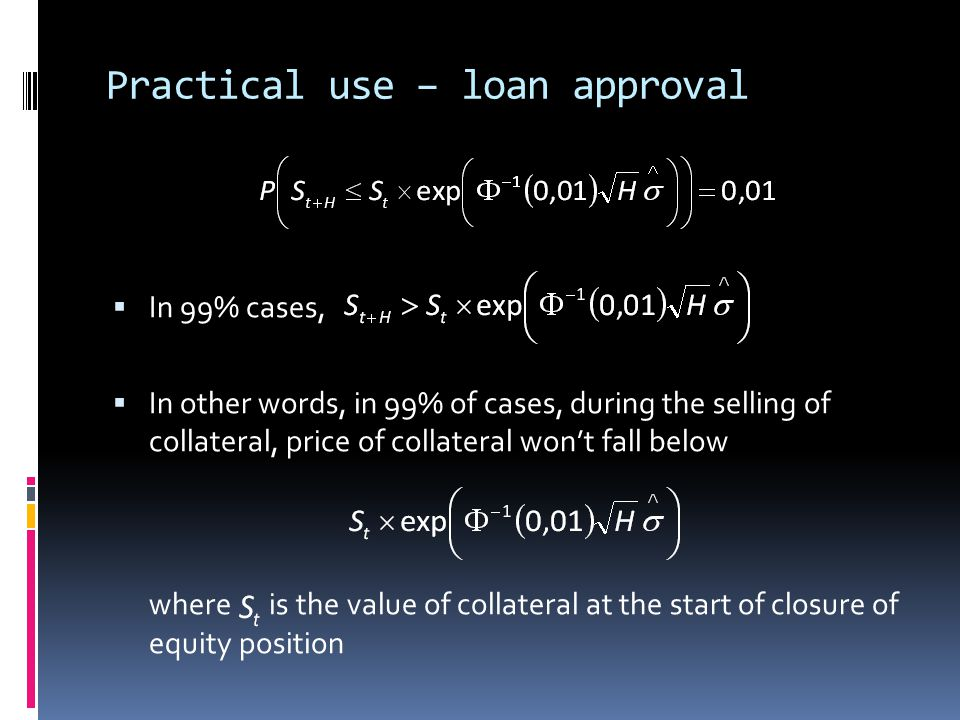 Practical use – loan approval