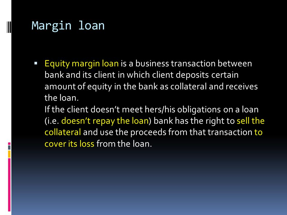 Margin loan