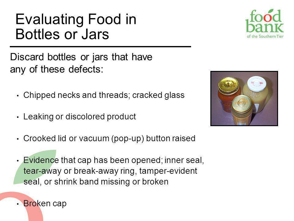 Evaluating Food in Bottles or Jars