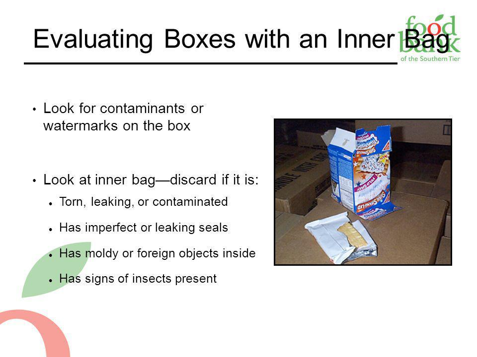 Evaluating Boxes with an Inner Bag