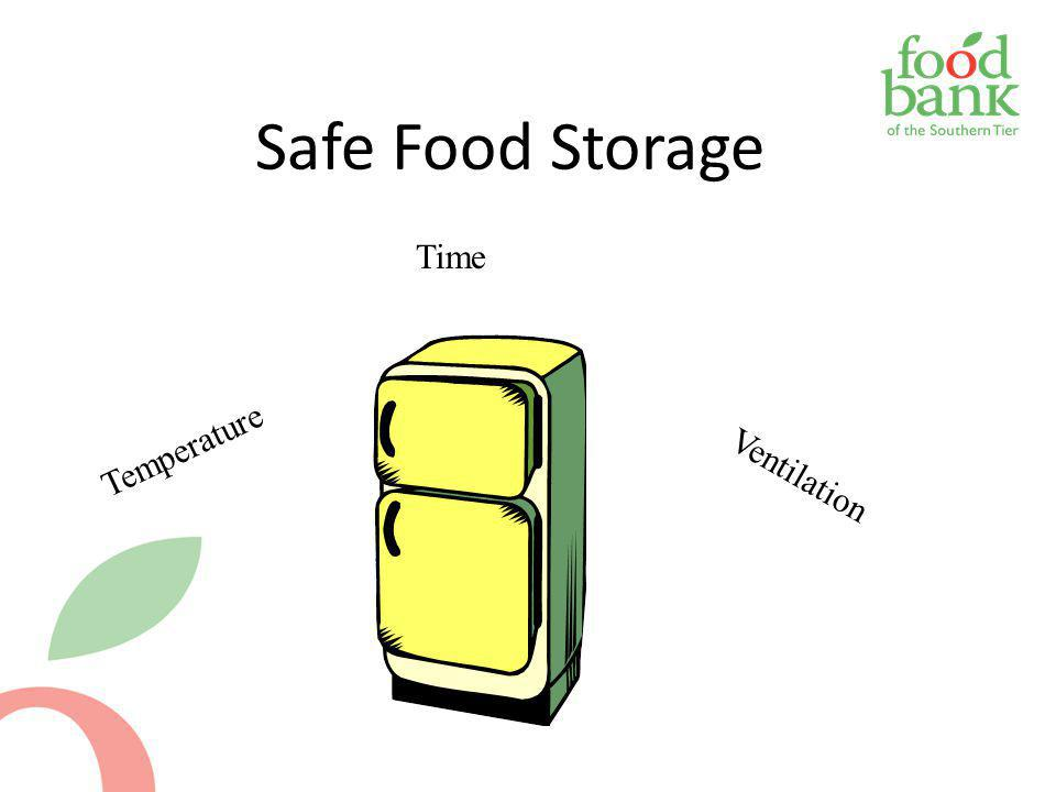Safe Food Storage Time Temperature Ventilation