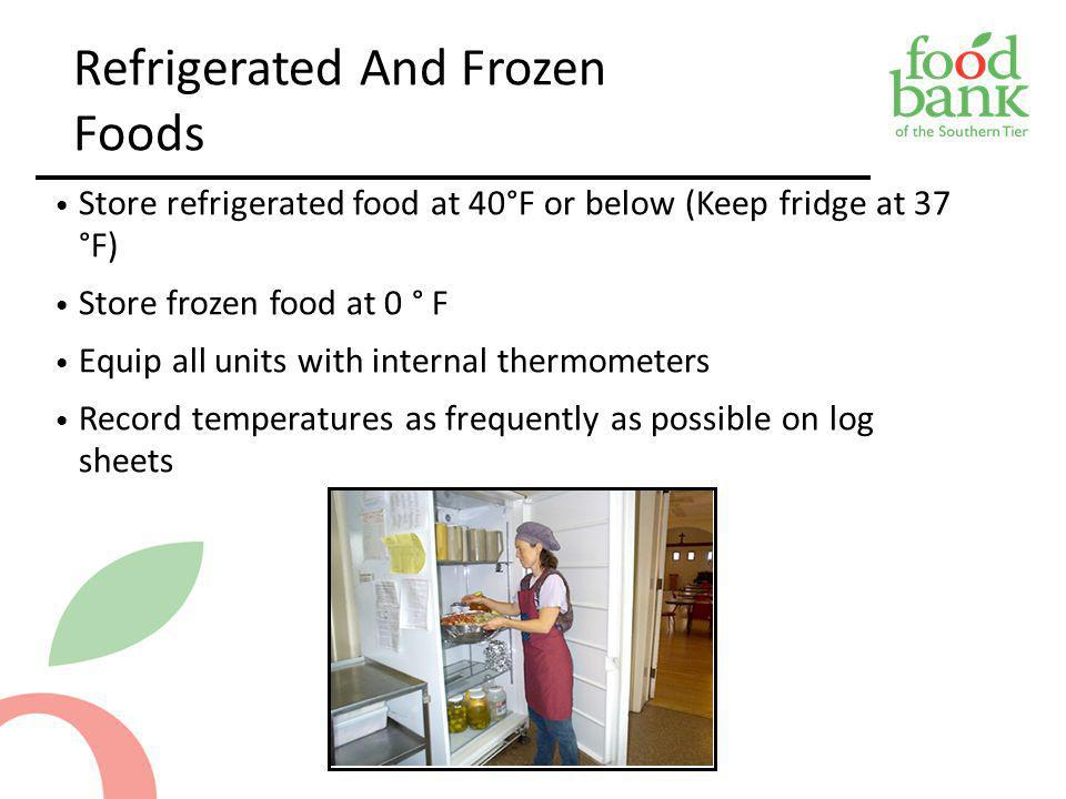 Refrigerated And Frozen Foods