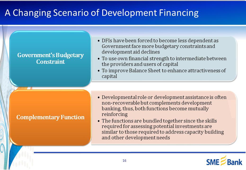 A Changing Scenario of Development Financing