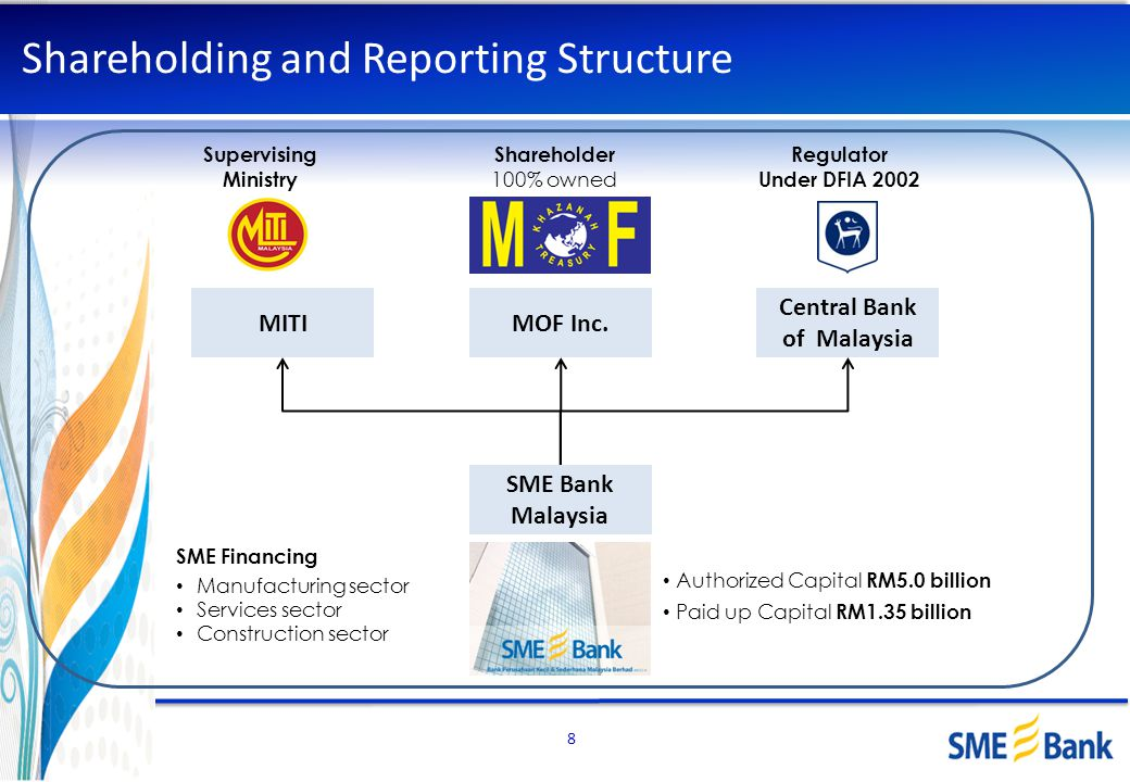 Shareholding and Reporting Structure