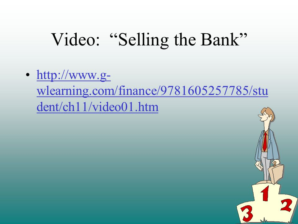 Video: Selling the Bank