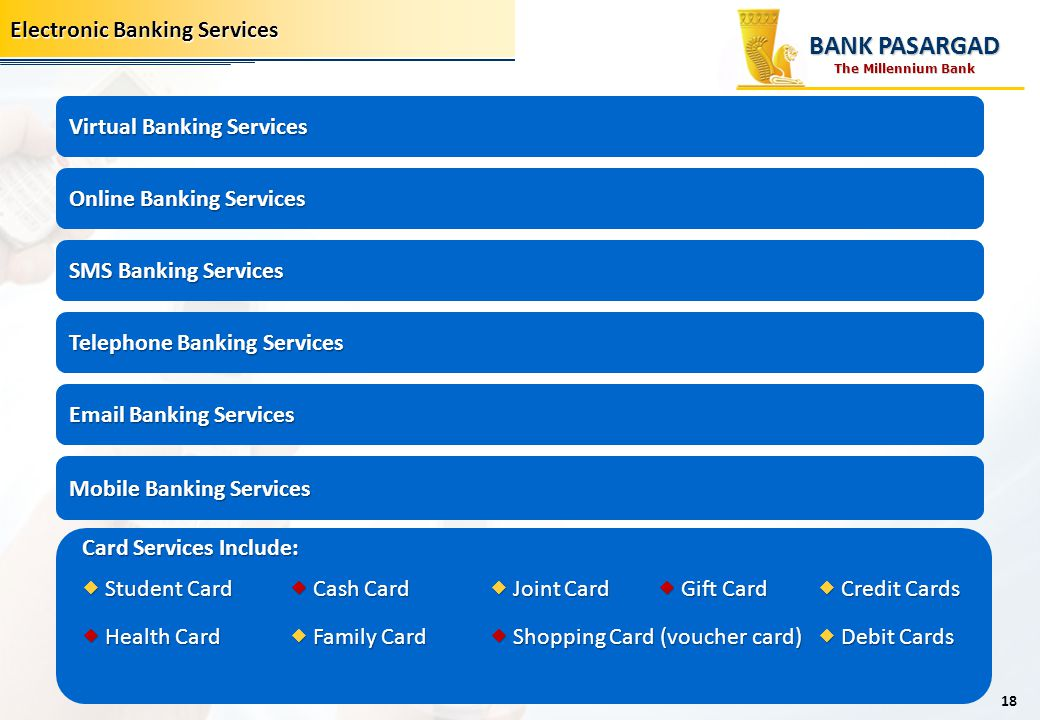 BANK PASARGAD Electronic Banking Services Virtual Banking Services