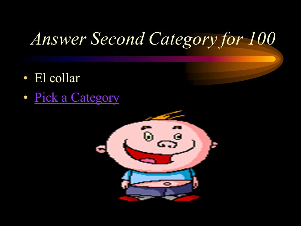 Answer Second Category for 100