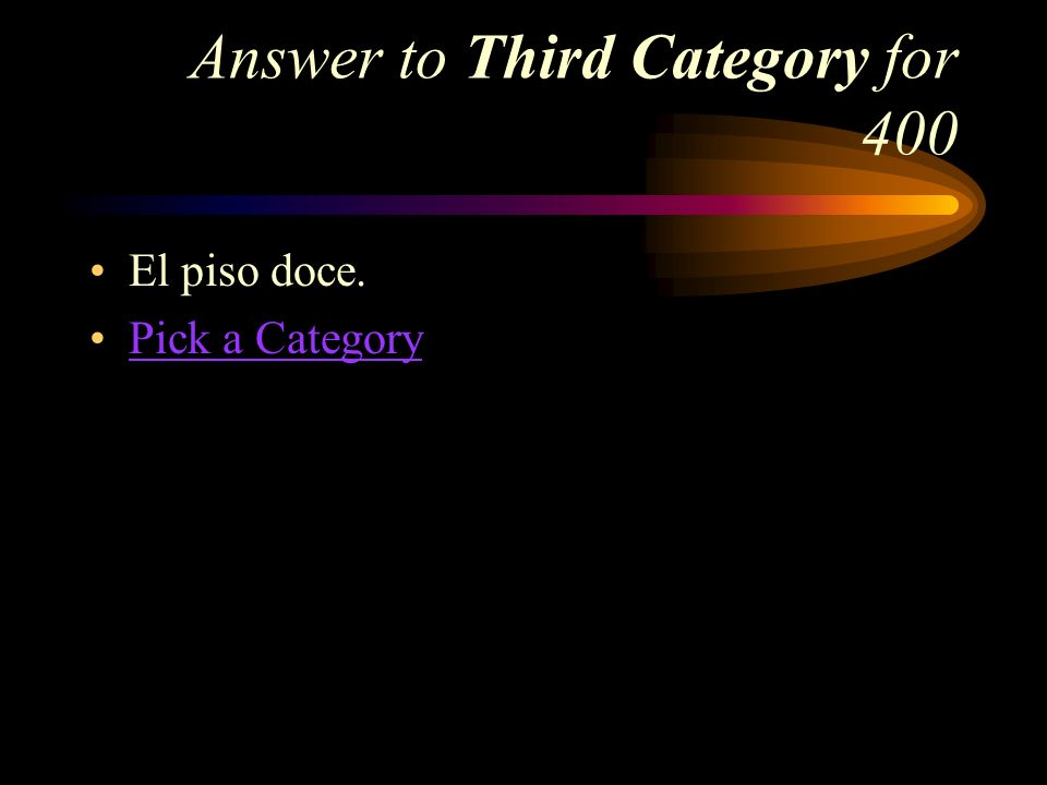 Answer to Third Category for 400