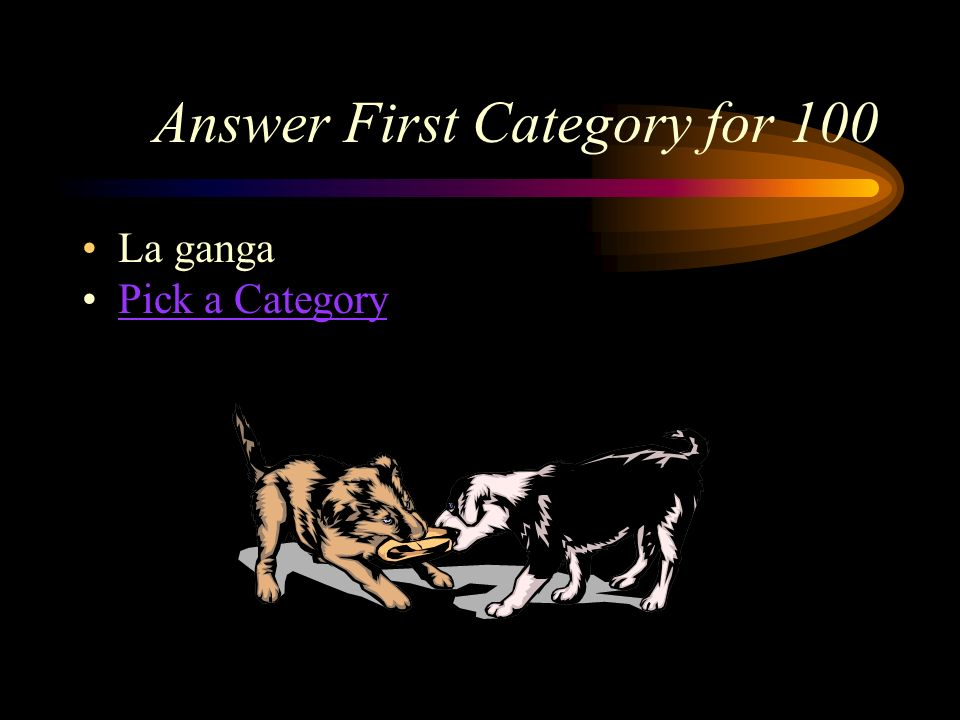 Answer First Category for 100