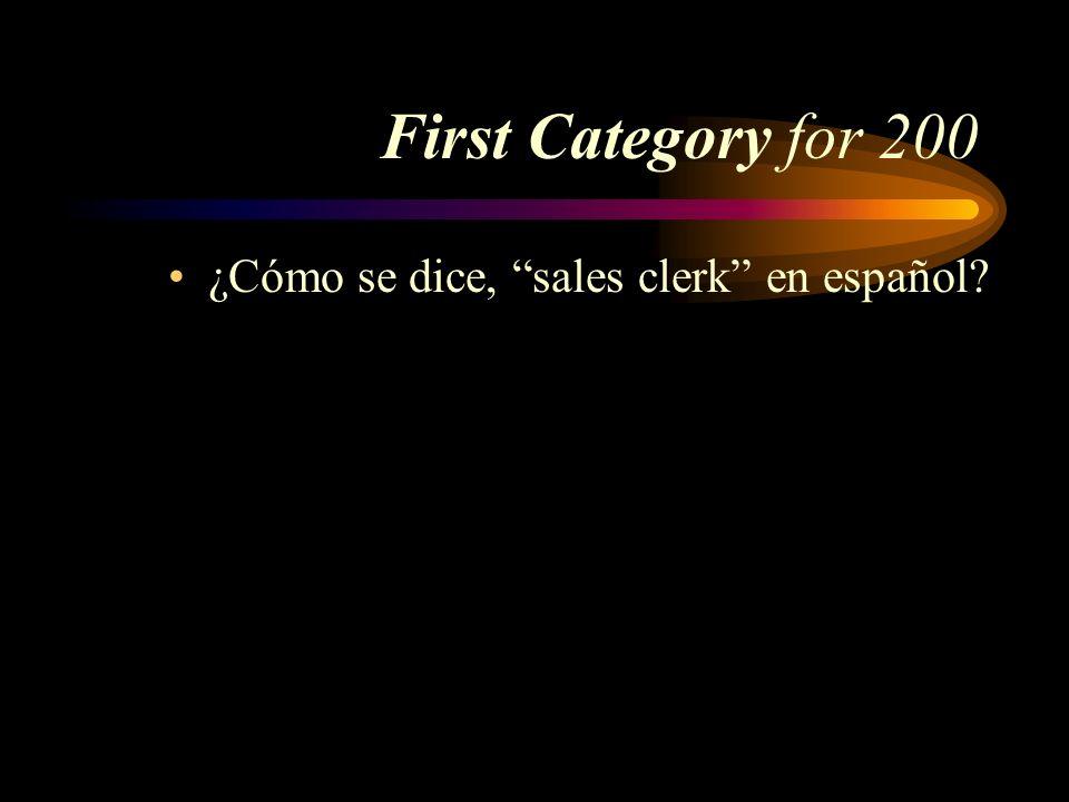 ¿Cómo se dice, sales clerk en español