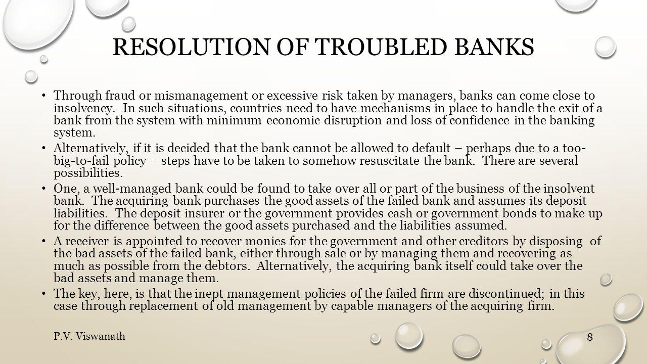 Resolution of troubled Banks
