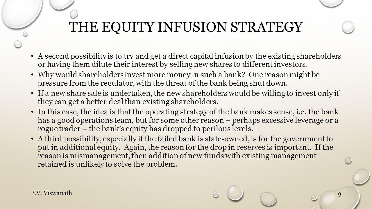 The Equity infusion strategy