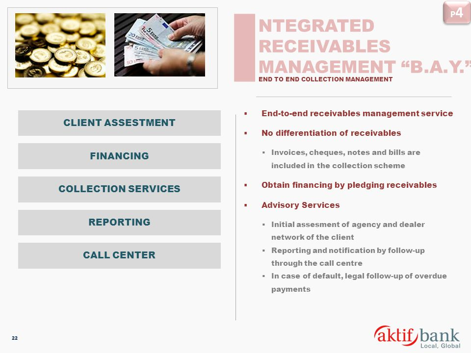 I NTEGRATED RECEIVABLES MANAGEMENT B.A.Y. P4 CLIENT ASSESTMENT