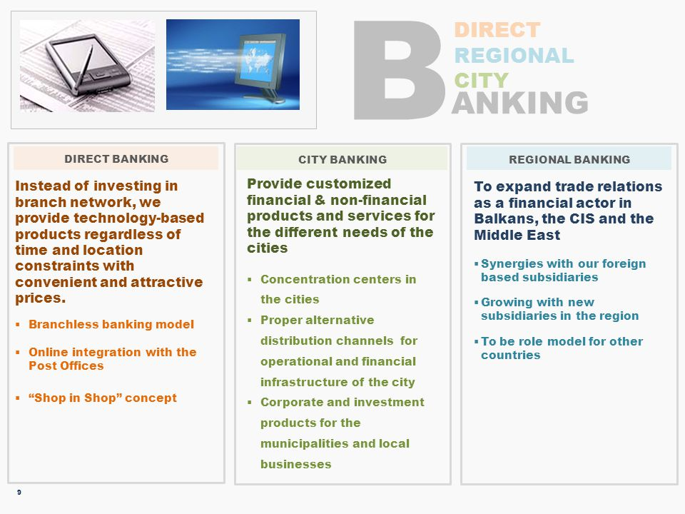 B ANKING DIRECT REGIONAL CITY