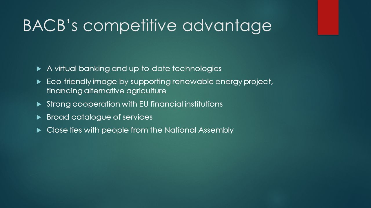 BACB's competitive advantage