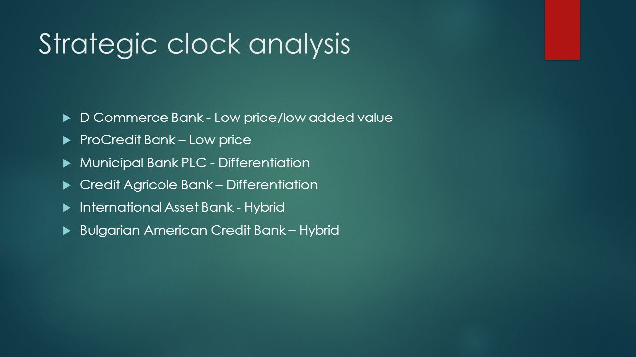 Strategic clock analysis
