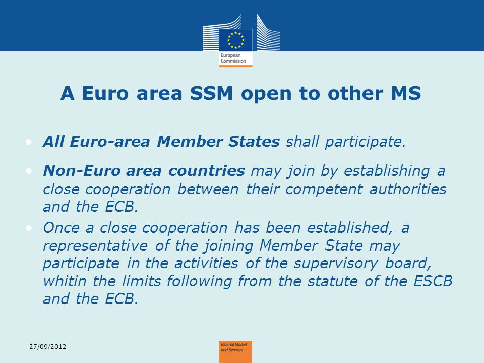A Euro area SSM open to other MS