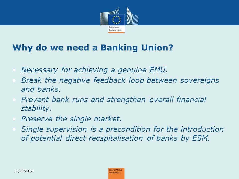 Why do we need a Banking Union