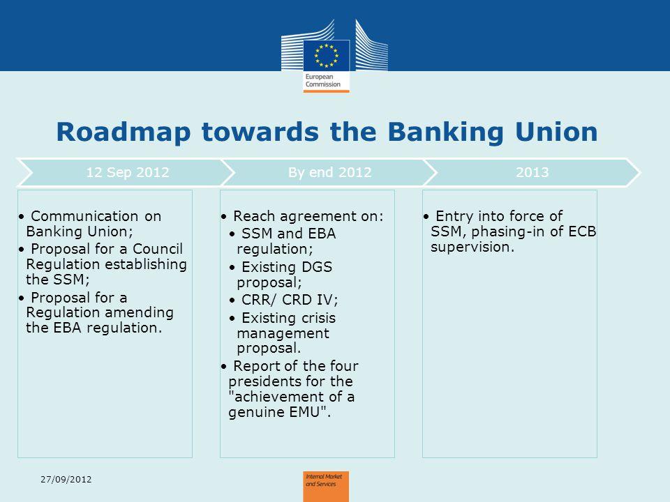 Roadmap towards the Banking Union