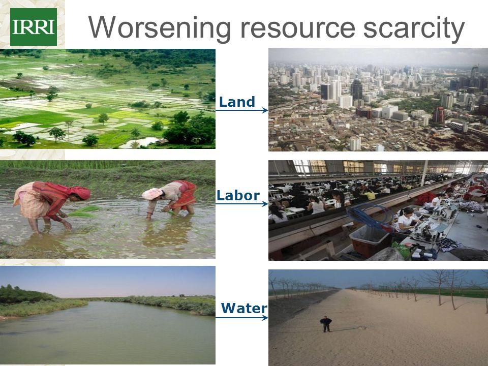 Worsening resource scarcity