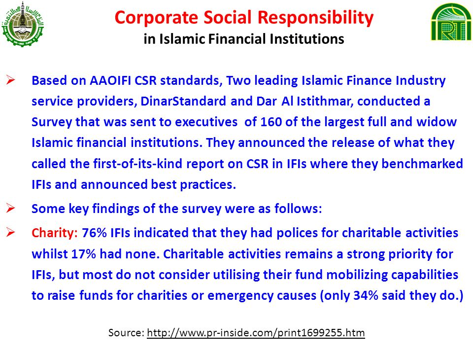 Corporate Social Responsibility in Islamic Financial Institutions