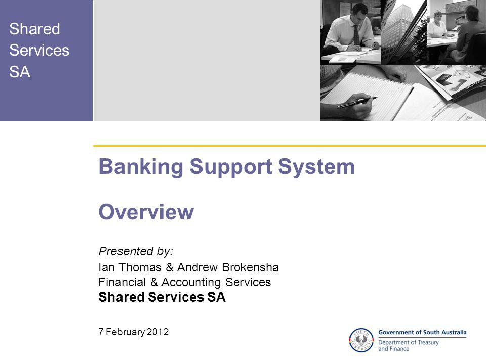 Banking Support System Overview
