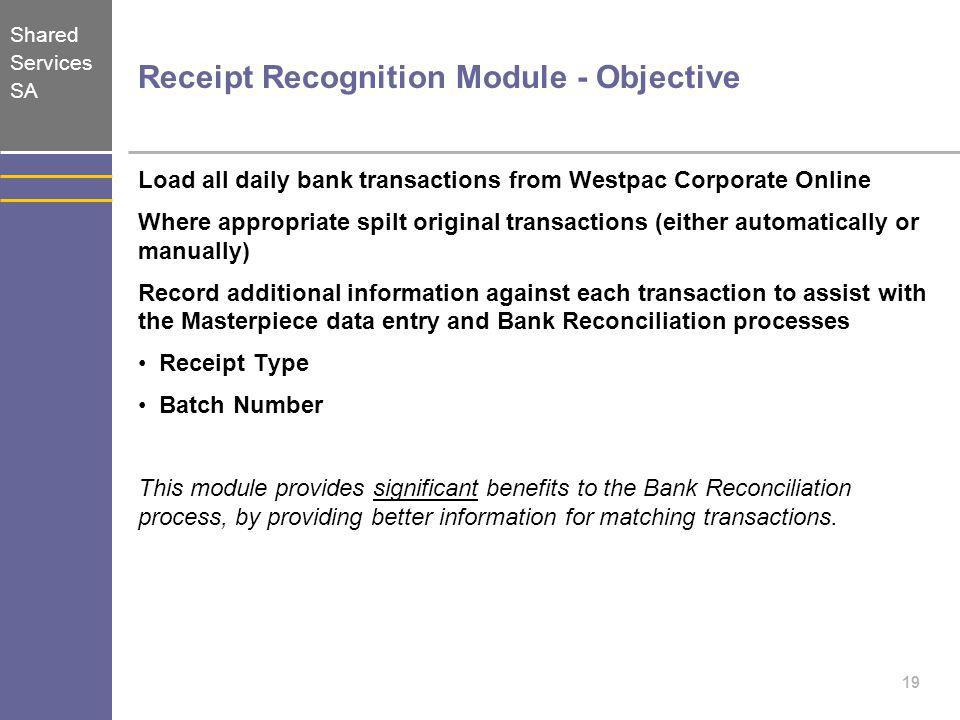 Receipt Recognition Module - Objective