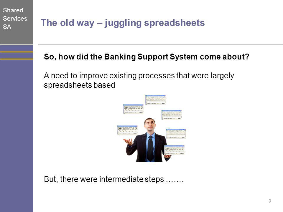 The old way – juggling spreadsheets