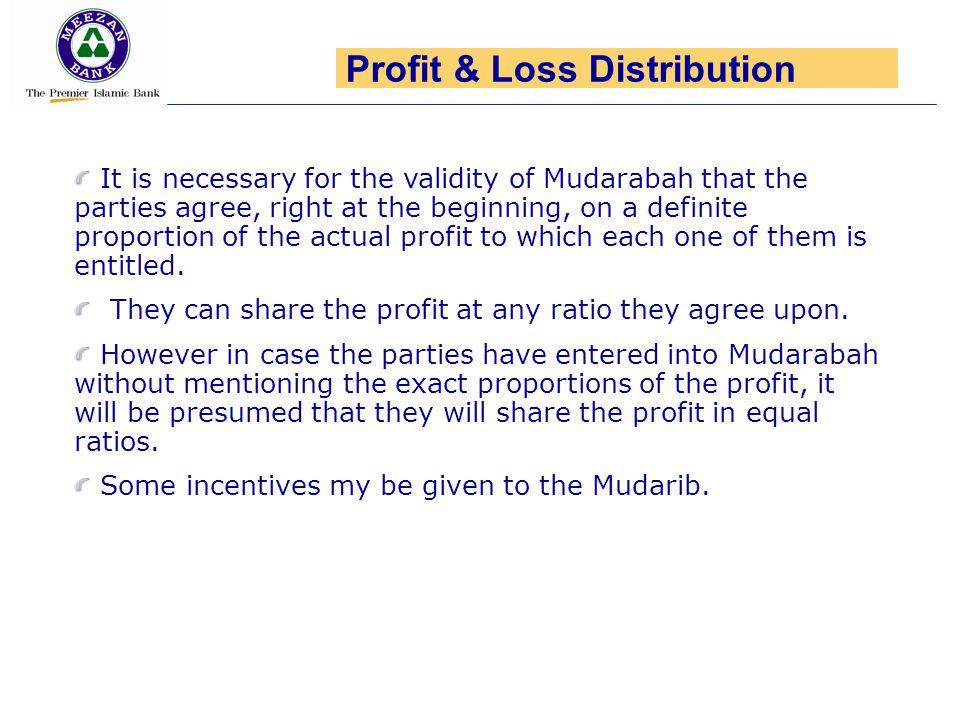Profit & Loss Distribution