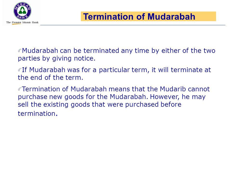 Termination of Mudarabah